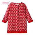 Pettigirl New Design Girls Coat Red And White Dot Long Sleeve Girls Jacket Retail Children Clothing OC80710-19