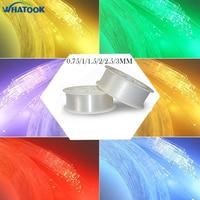 0.75mm 1.0mm 1.5mm 2mm 2.5mm 3mm Pmma led fiber optic cable light end glow fibra optica ceiling kit DIY decoration market x 5pcs