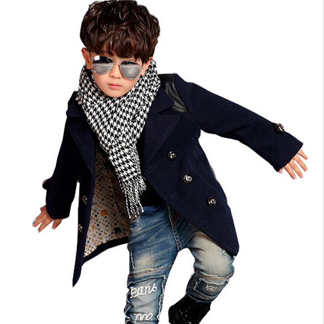 2017 New Fashion Autumn Boy Trench Coat Jacket Autumn Boy Kids Outwear Children Clothing