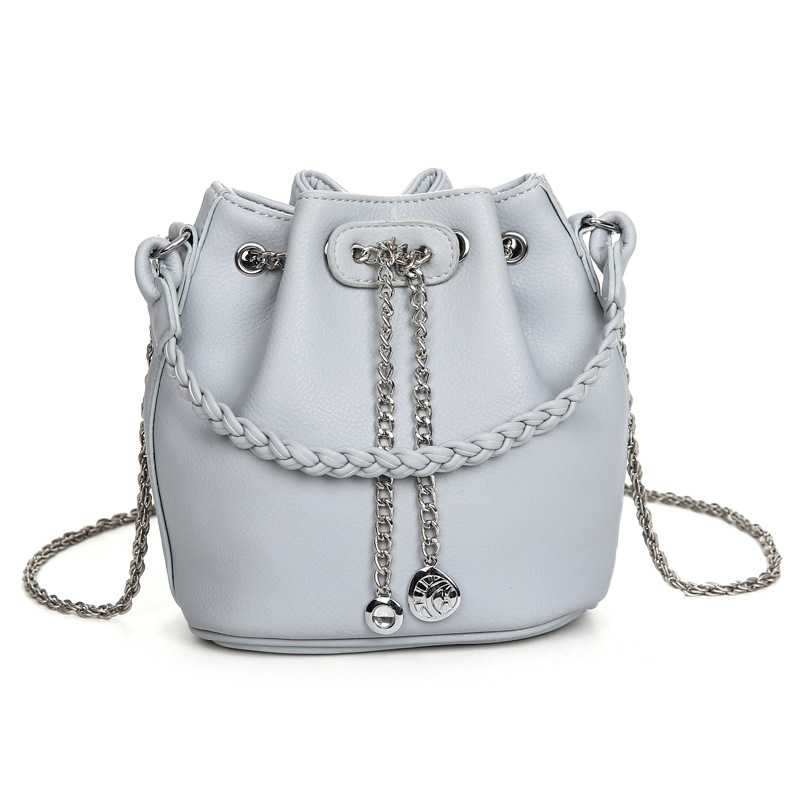 Summer fashion small women bucket bag Korean style chain messenger bag PU leather female shoulder bag ladies handbag