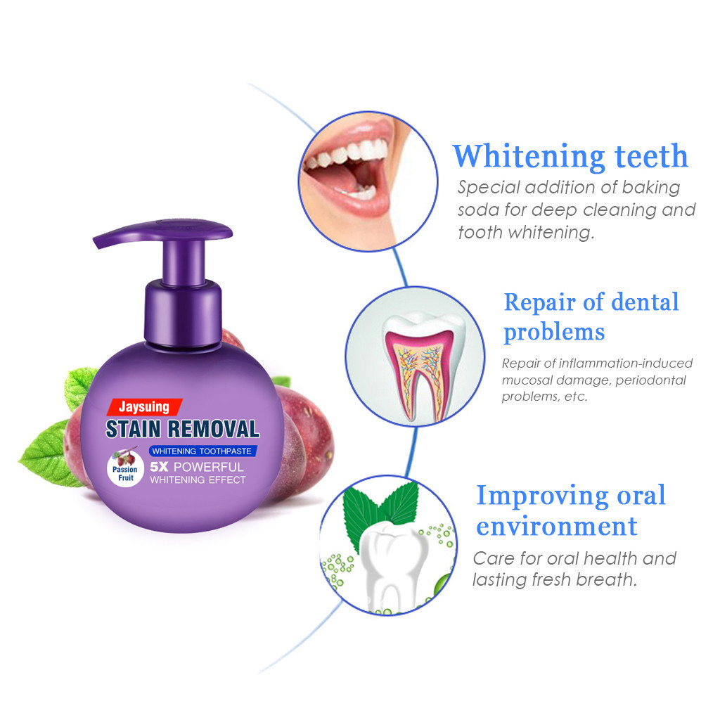 Intensive Stain Removal Whitening Toothpaste + Free Toothbrush