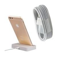 2 шт./лот Рабочего Зарядки для Док-Станции Док Колыбели + 8pin к usb Кабель зарядного устройства для iPhone 5 5S 5C 6 6 s plus 7