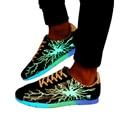 2015 nuevos hombres zapatos casuales zapatos zapatos para adultos moda fluorescente que brilla intensamente led luminoso rayo Zapatos chaussure DT64