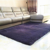 Plush Fabric Anti Slip Mat Thicke Floor Carpets For Living Room Plain Color Bathroom Water Absorption