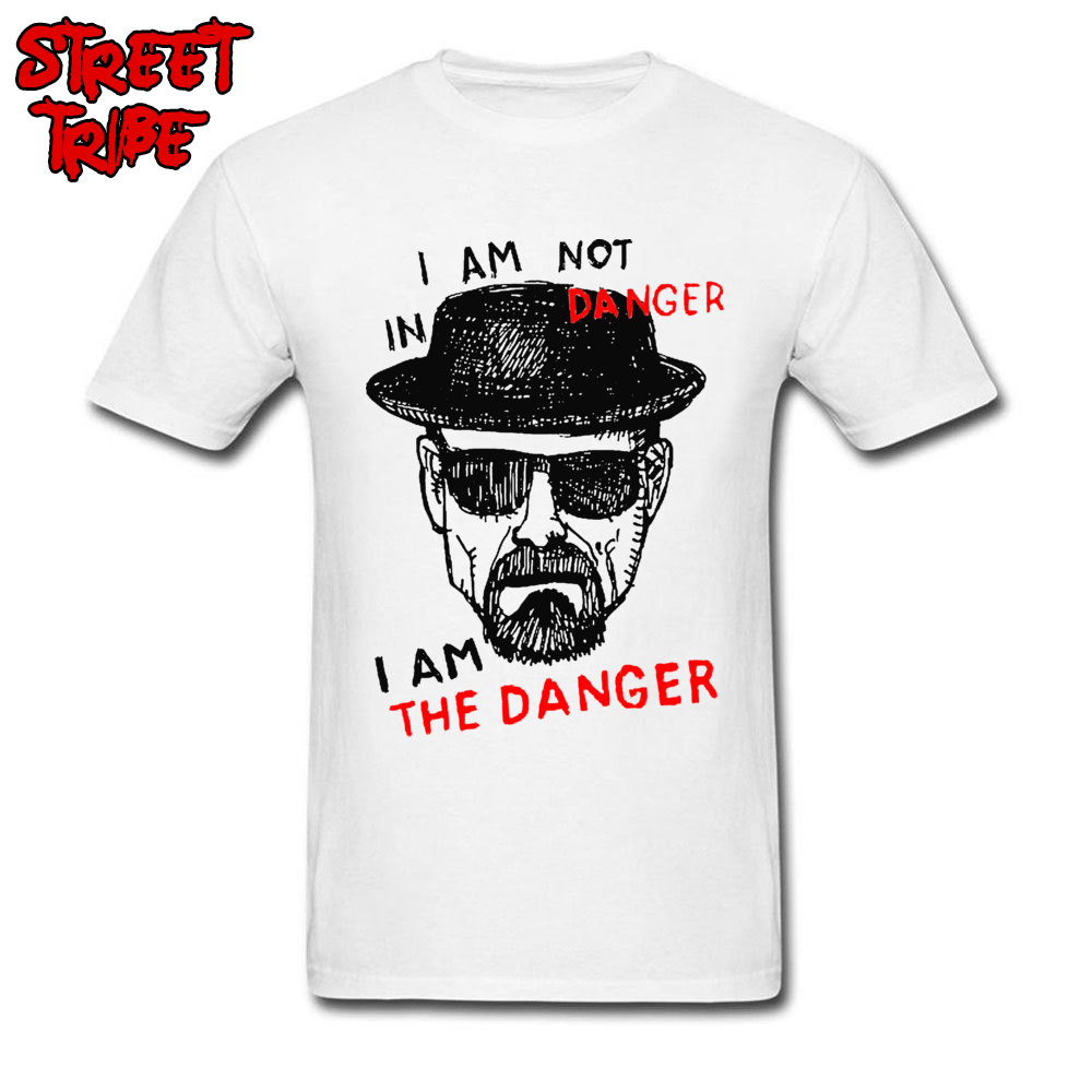 Breaking Bad T-shirt For Adult Men I Am The Danger T Shirt Funny Saying Tops Letter Tees Walter White Salty Streetwear Plus Size image