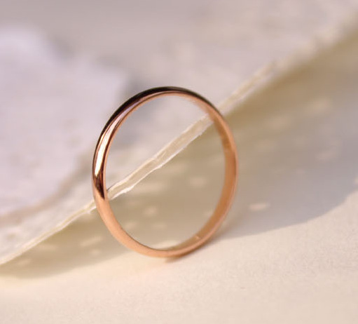 Simple Rose Gold Pated Stailess Steel Smooth Rings For Women Girls Fashion Small Tail Ring Lovers Ring bague femme anel aneis