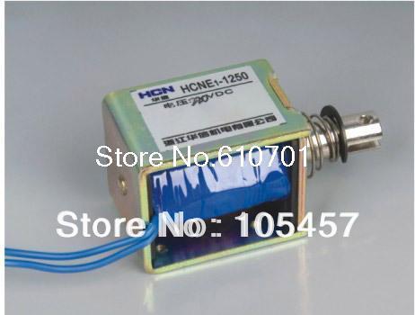24V Pull Hold/Release 10mm Stroke 0.9Kg Force Electromagnet Solenoid Actuator HCNE1-1250 1x pull hold release10mm stroke 0 41kg force electromagnet solenoid actuator 12v