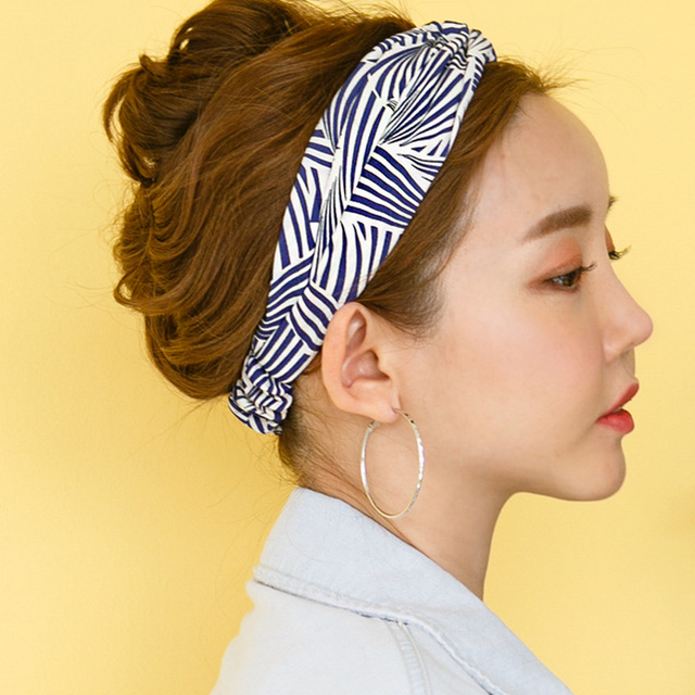Women Headband Girl Retro Twist Hairbands Hair Band Elastic Head