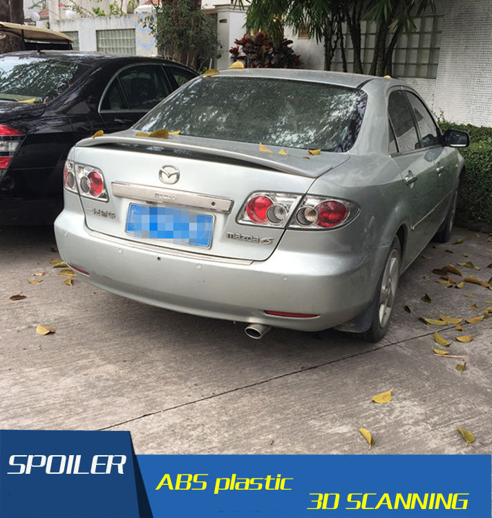For <font><b>Mazda</b></font> <font><b>6</b></font> <font><b>Spoiler</b></font> High Quality ABS Material Car Rear Wing Primer Color Rear <font><b>Spoiler</b></font> For <font><b>Mazda</b></font> <font><b>6</b></font> Mazda6 <font><b>Spoiler</b></font> 2006-<font><b>2014</b></font> image