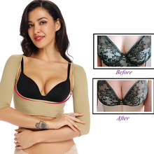 Push Up Long Sleeves Arm Shaper Body Shaper Women Chest Posture Corrector Control Slim Arm Surgery Slimming Underwear Tops Crop