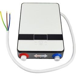El más nuevo calentador de agua de ducha instantáneo eléctrico 6500w 220v termostato calentador de flujo de baño calefacción agua de ducha caliente instantánea