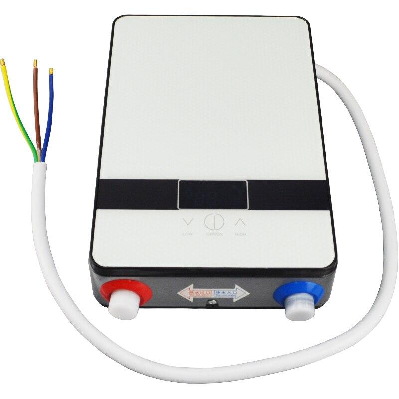 Le plus nouveau chauffe-eau instantané électrique de douche 6500w 220v Thermostat chauffe-débit salle de bains chauffant l'eau chaude instantanée de douche
