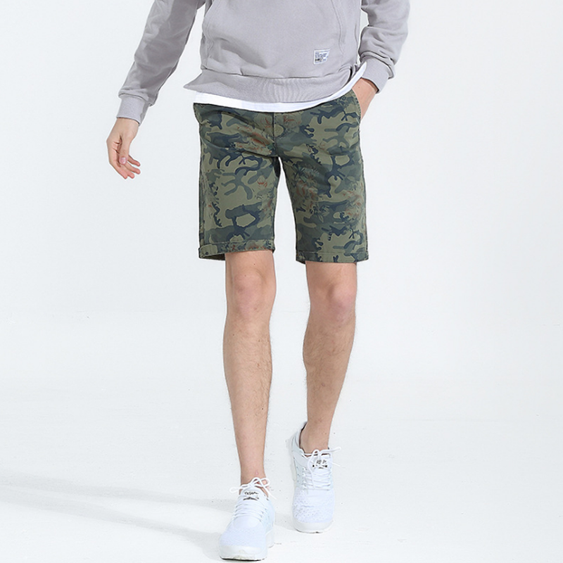2018 Casual Army Camouflage Printed Mens Cargo Shorts Summer Fashion Knee Length Tactical Trousers Top Man Short Dropshipping
