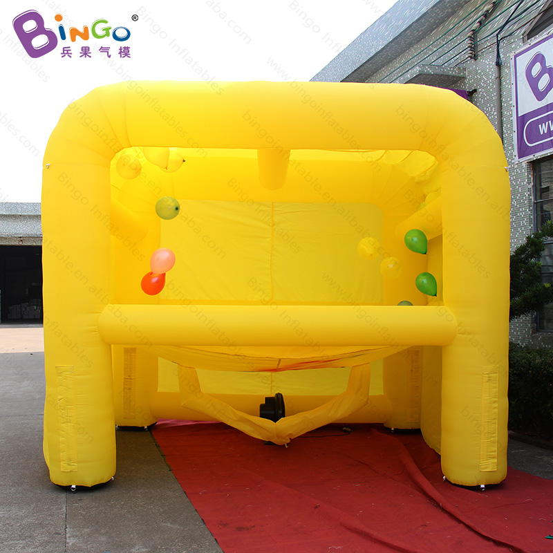 inflatable balloon target shooting game stand machine, hover archery ball game for events 3x3.5x4.4m toy
