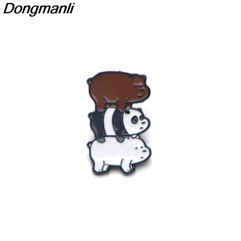 P3371 Wholesale 20pcs lot We Bare Bears Enamel Pins and Brooches for Women Men Lapel Pin