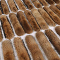 2016 new genuine natural raccoon fur collar 80cmX16cm full pelt