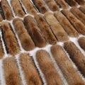 2016 nueva genuino natural mapache cuello de piel de 80 cm X 16 cm completa pelt