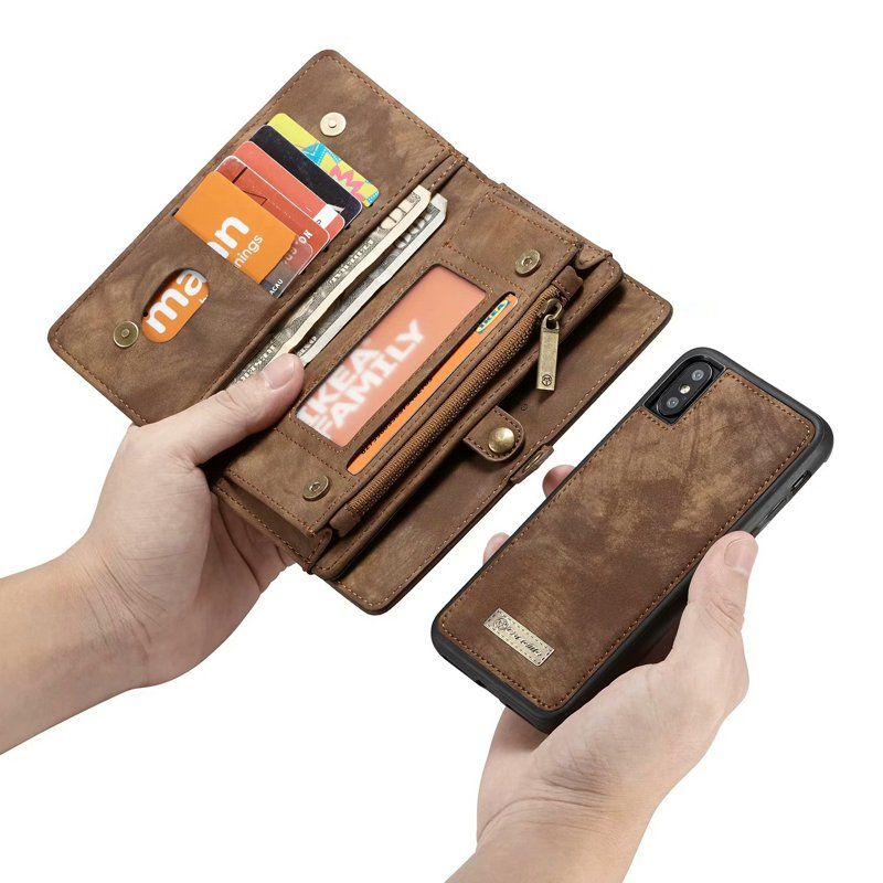Leather Wallet With Phone Case