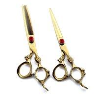 6.0 inch Barber Scissors Set Retro Barber Hair Cutting Scissors Hairdressing Shears Tools for Stylist Japan 440C Handmade