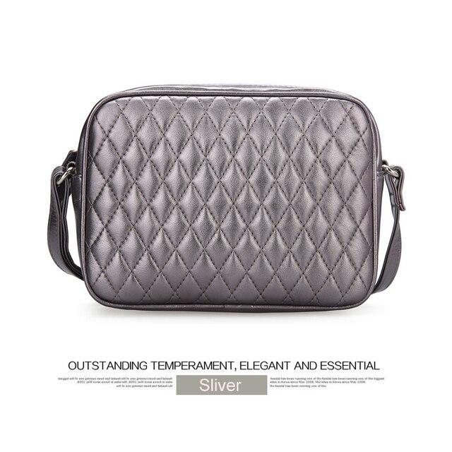 Women Genuine Sheep Leather Real Lamp Skin Shoulder Handbag Cross Body Messenger Bag Quilted Fashion Purse Satchel Designer Lady