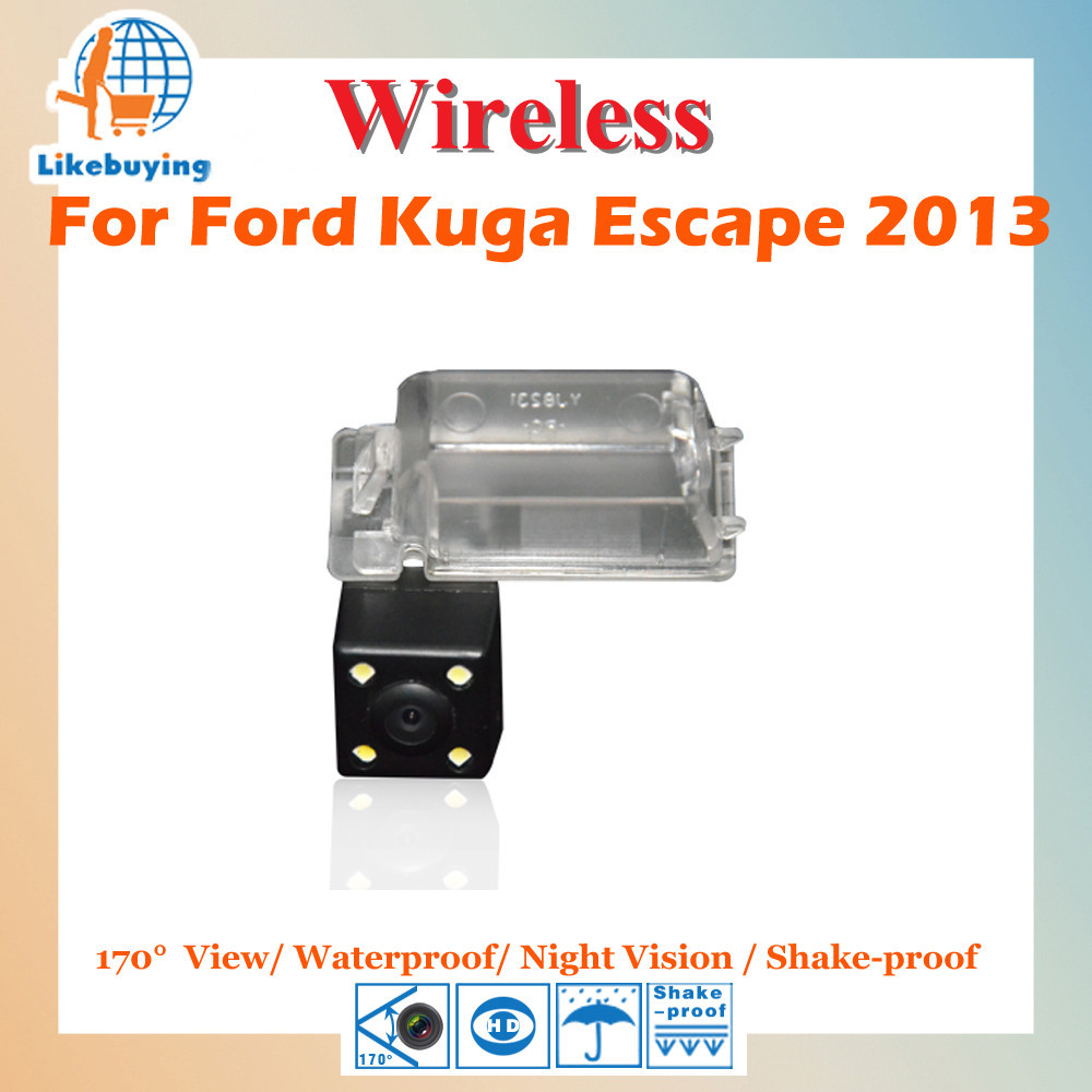 Wireless Parking Camera 1 4 Color CCD Rear View Camera For Ford Kuga Escape 2013 Night