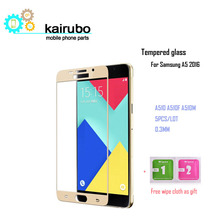 5PCS Tempered Glass For Samsung Galaxy A5 2016 A5100 A510 Ultra-thin Screen Protector for 2017 A520 HD Toughened Film