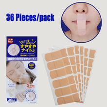 36 pieces/pack Adult Relieve Snoring Paste Nose Snore Stopping Anti Stickers Kids Anti-snoring Device Close Mouth Sticker
