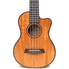26 tenor Mahogany solid Cutaway ukulele guitar 4 Strings ukelele Hawaii mini small guita travel  acoustic guitar Uke Concert suerte adela ukulele solid mahogany plywood back and side 4 string guitar soprano concert tenor with bag