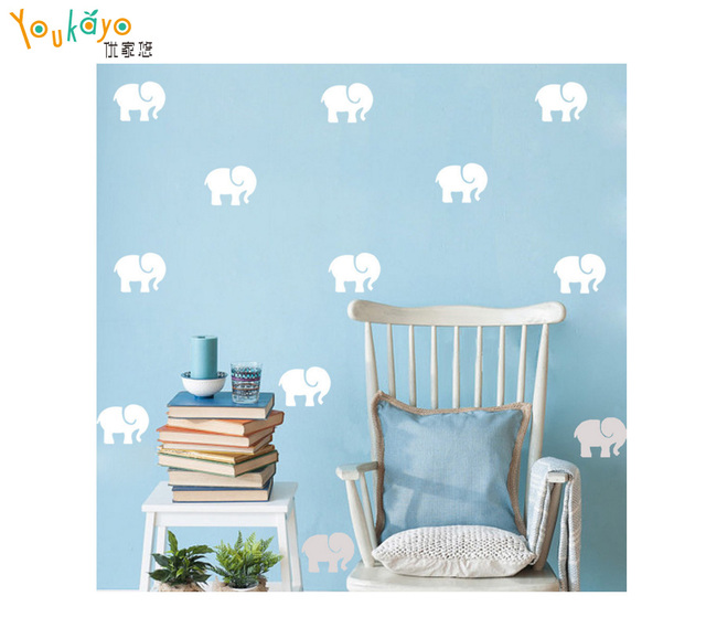 Cartoon elephant decorative painting wall sticker wholesale custom wall stickers