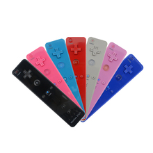 цена на 7 Colors Built-in motion 2in1 for Wii remote control/jostick For Nintendo Wii Gamepad/joy-pad/controller with Motion Plus