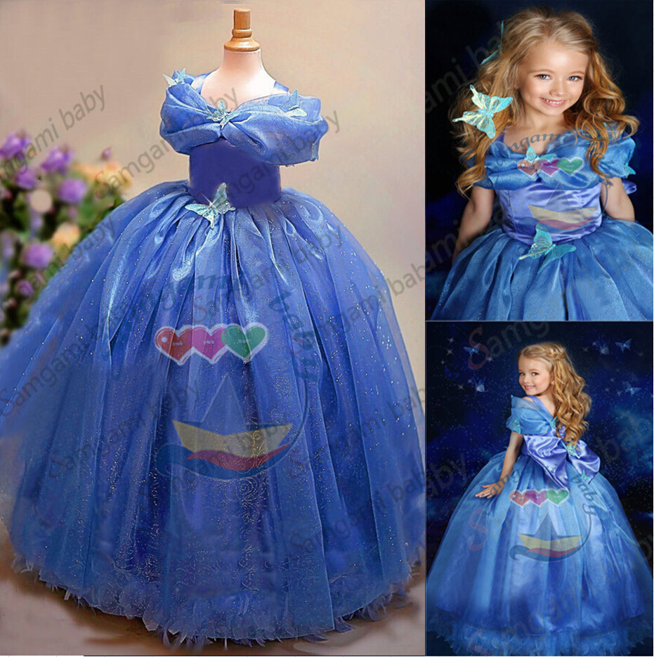 New Kids Cinderella Party Dress Girls High Quality Of The Palace ...