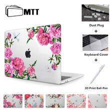 MTT Flower Crystal Case For Macbook Air Pro Retina 11 12 13 15 Touch Bar Cover for mac book air 13.3 inch a1932 Laptop Sleeve цена и фото