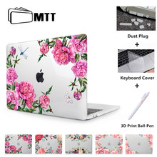MTT Bunga Crystal Case untuk Macbook Udara Pro Retina 11 12 13 15 Touch Bar Cover untuk Mac Book Air 13.3 Inci A1932 Laptop Sleeve(China)
