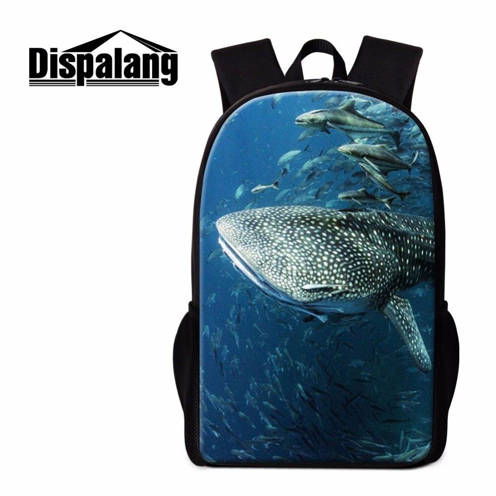 Dispalang Shark Backpack for Primary Students Animal Design School Bookbag Teenager Casual Back Pack Children Ruckasck Book Bag