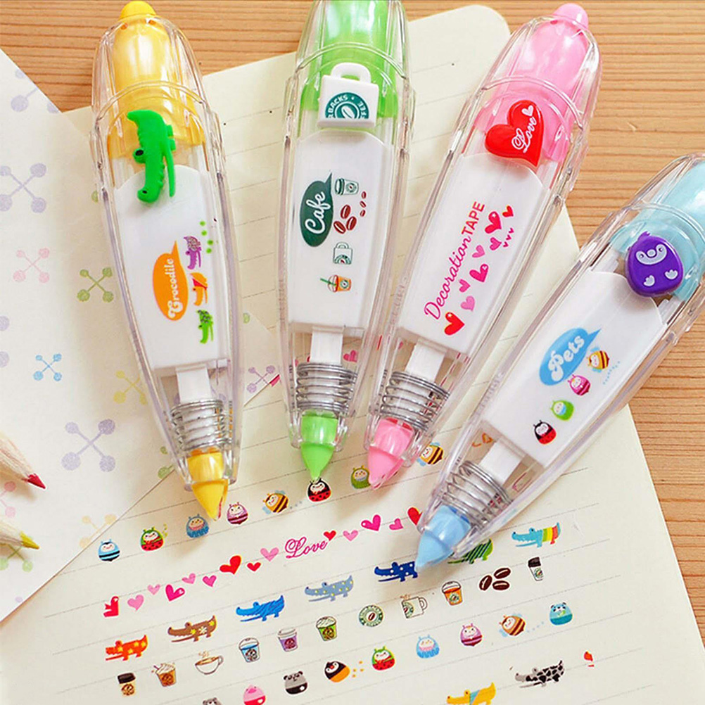 1Pcs 4 Colors Novelty School Office Supply Korea Stationery  Decorative Correction Tape Lace For Key Tags Sign Students Gifts