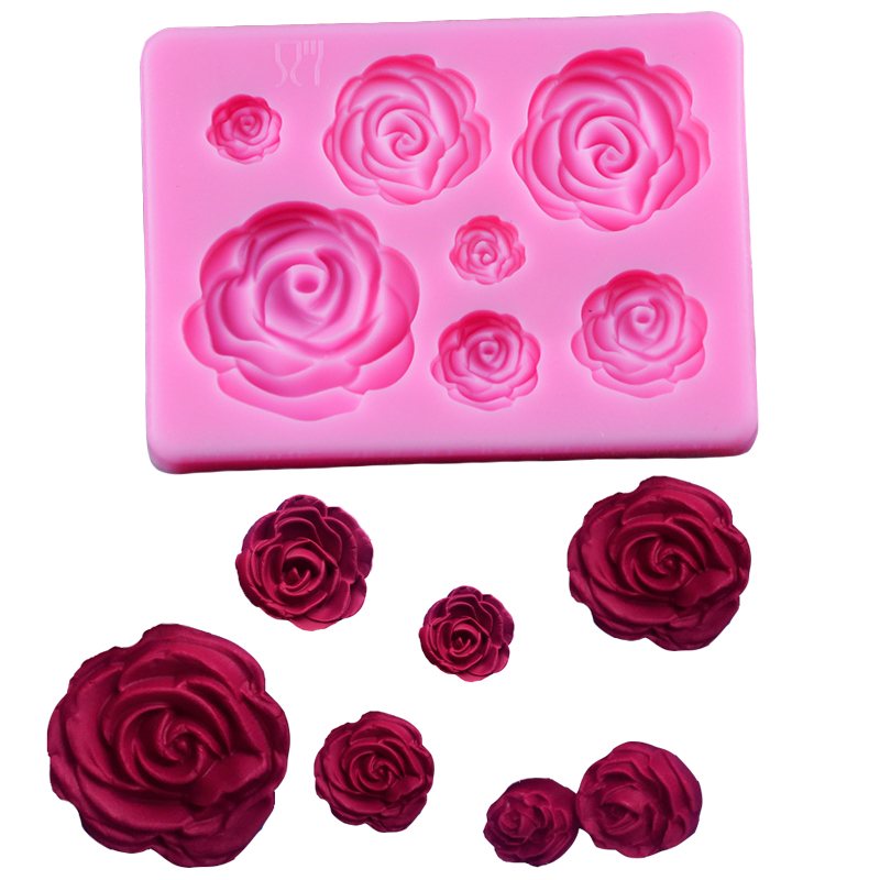 3D Silicone Mold Rose Flower Sugarcraft silicone mold fondant cake decorating tools chocolate gumpaste
