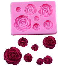 цена 3D Silicone Mold Rose Flower Sugarcraft silicone mold fondant mold cake decorating tools chocolate gumpaste mold в интернет-магазинах