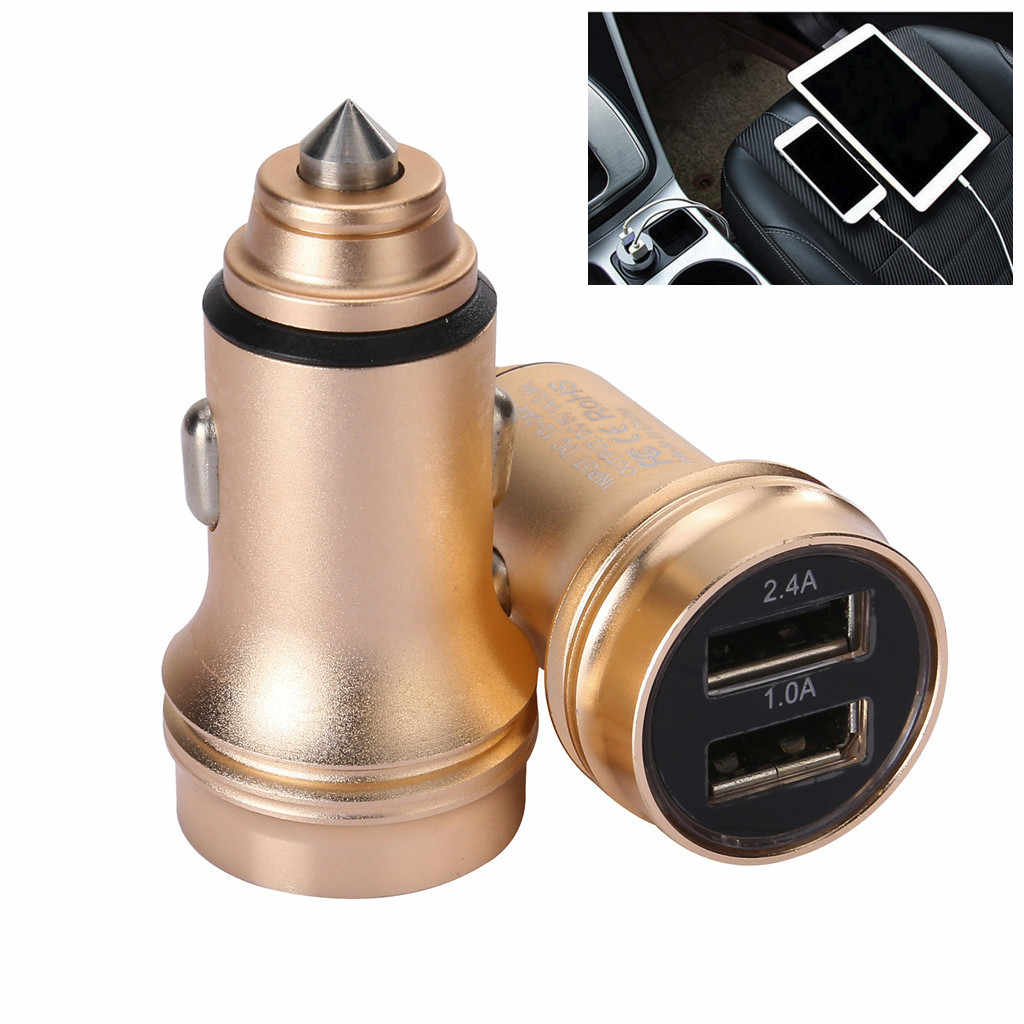 Car Charger 5V/2.4A/1A Quick Charge Dual USB Port  Adapter Voltage for Phone MI For Xiaomi samsumg For bmw For toyota For honda