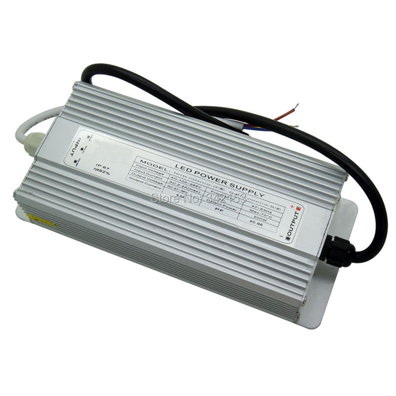 200W LED Driver AC100-265V DC 27-36V 6A IP67 Waterproof For 200W Watt High Power LED Light Portable Lighting Transformers ip67 waterproof 200w high power led driver 36v 5 5a constant current portable lighting transformers input 100 240vac 2 3a