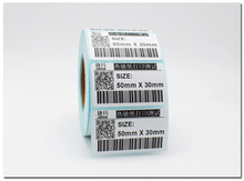 1 rolls POS thermal label paper size 50x30mm use for Thermal printer Labels blank stickers (total 800 labels)