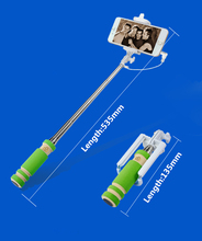 2016 New Handheld Wired  Selfie Stick Accessory for iPhone Extendable Monopod Self Camera for samsung