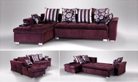 French Modern Design 2013 New Living Room L Shaped Fabric Corner Sofa Fabric Sofa Bed F105