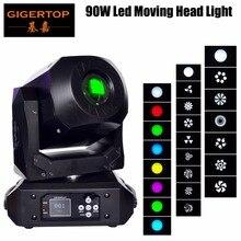Gigertop Новый TP-L606E 90 Вт светодио дный Moving головной свет уплотненные размеры высокое Яркость для DJ танцы шоу концерт Рождество Хэллоуин день