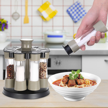 8Pcs Rotating Spice Bottles
