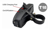 2016 New GSM/GPRS GPS Mini Hidden Bike Tracker T18 Quad Band Real-time Google Map Tracking Sim Card Slo tail lamp gps tracer