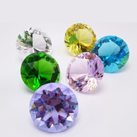 Fengshui Style  2 Inch 50mm Nature Clear Quartz Crystal Diamond Stone Colorfull Cristal Home Decoration Accessories