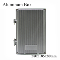 FA16 280x185x80mm IP65 Waterproof Terminal Metal Aluminum Junction Box Electronic Project Enclosure Instrument Case Outdoor