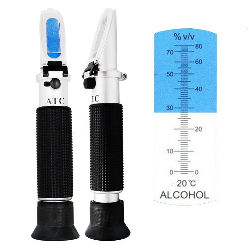 Portable Handheld Refractometer Design for Alcohol Liquor Content Testing 0-80% Range Built in ATC 30% off portable handy handheld salinity refractometer with built in led light aquarium 0 10% built in atc 10 degree c to 30 degree c