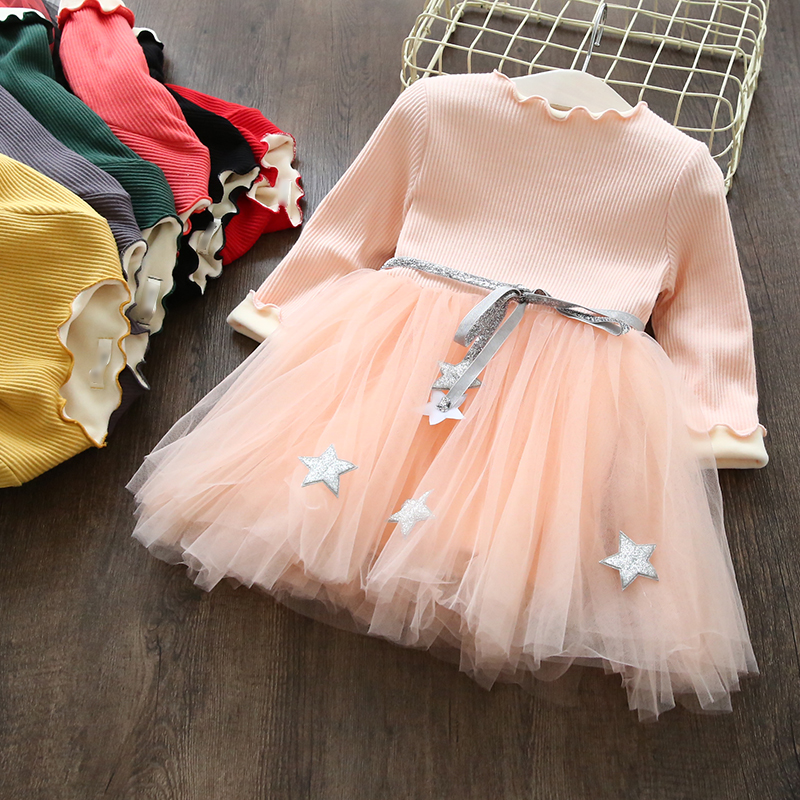 Girls Dresses Kids Princess Dress For Girls 2017 Winter Thick Plus Velvet Costumes Baby Vestidos Children Long Sleeve Clothes girls dresses baby girl long sleeve dress new autumn cotton denim dress for girls children costumes vestidos kids clothes