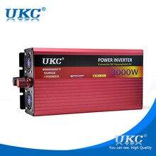 Ukc 3000 w/3kw 12 v 220 v inversor de potência do carro para freezers, fornos de microondas, chaleira elétrica, chaleira elétrica furadeira elétrica, máquina de corte